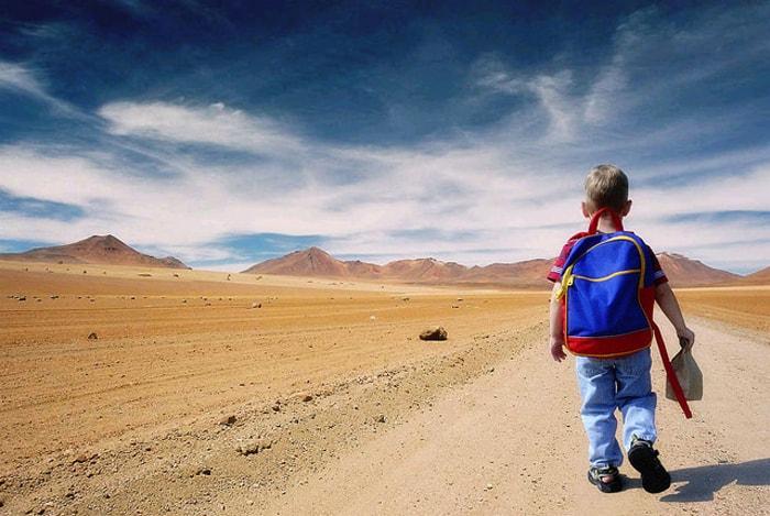 el camino al colegio